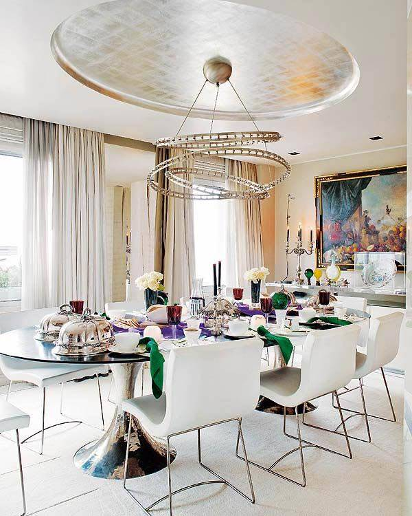 ультра-современные люстры в интерьере дома