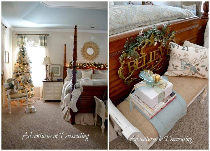 новогодняя спальня фото