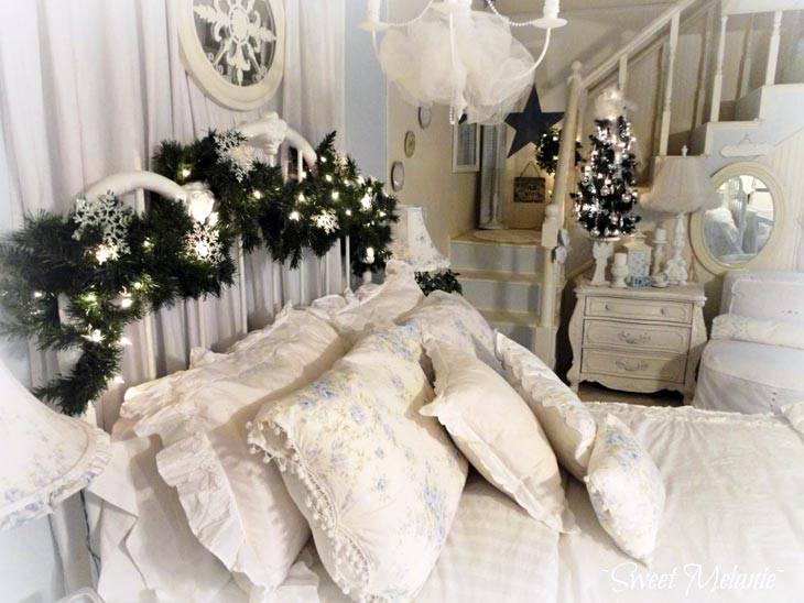 новогодний интерьер спальни фото