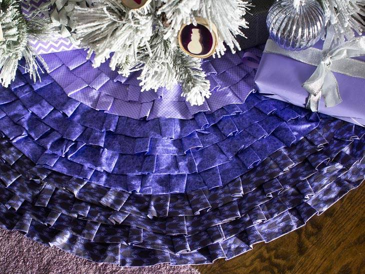 фиолетовый цвет в новогоднем декоре