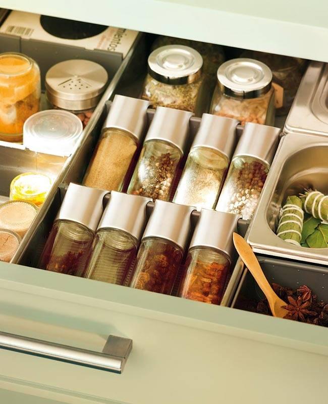 ящики для хранения на кухне