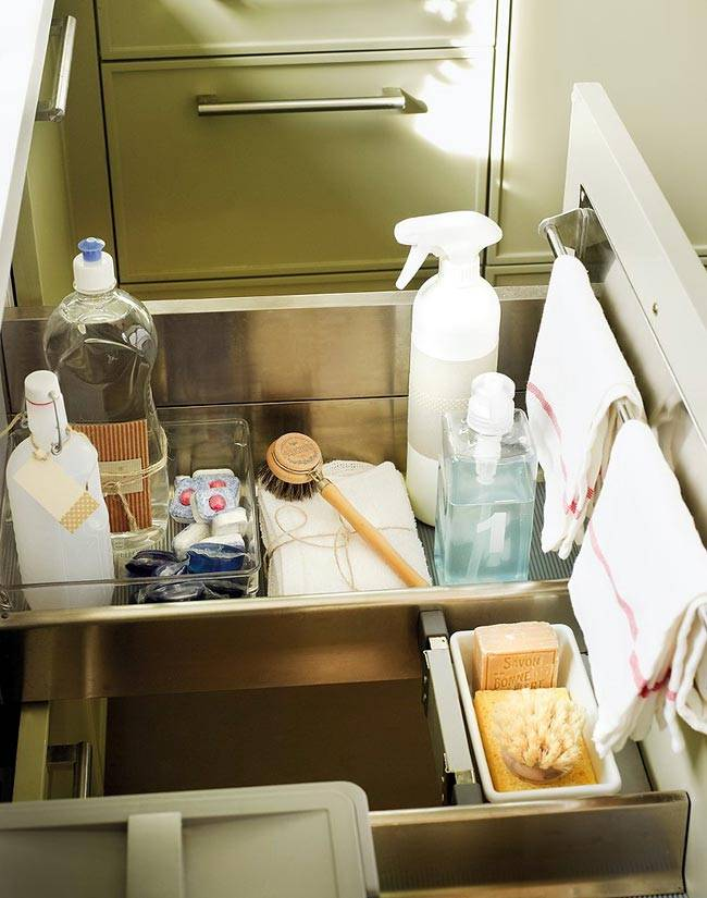 ящики для хранения кухонной утвари