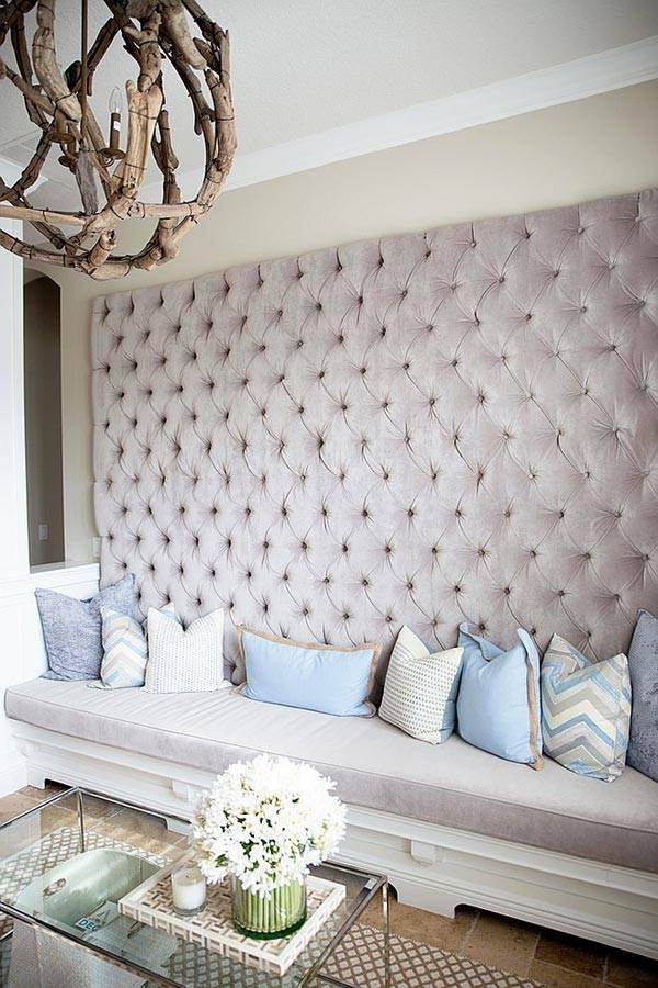 мягкие стеновые панели в интерьере