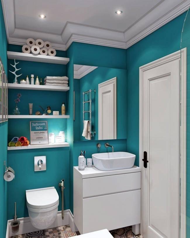 бирюза ванной комнаты фото