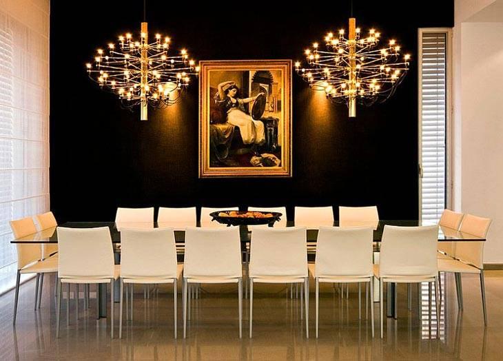 черный и золотой декор интерьера