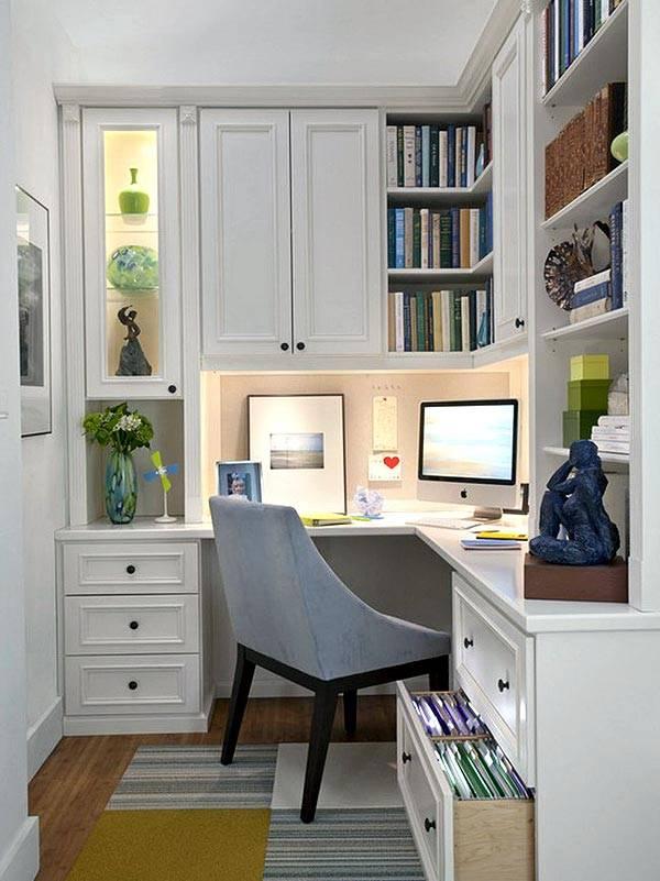 как разместить домашний рабочий уголок в маленькой комнате
