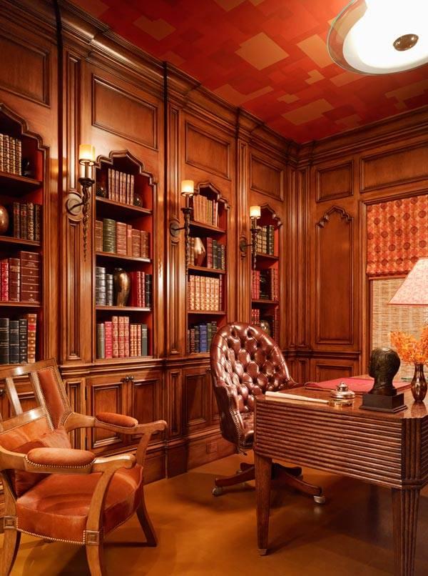 деревянный домашний офис фото