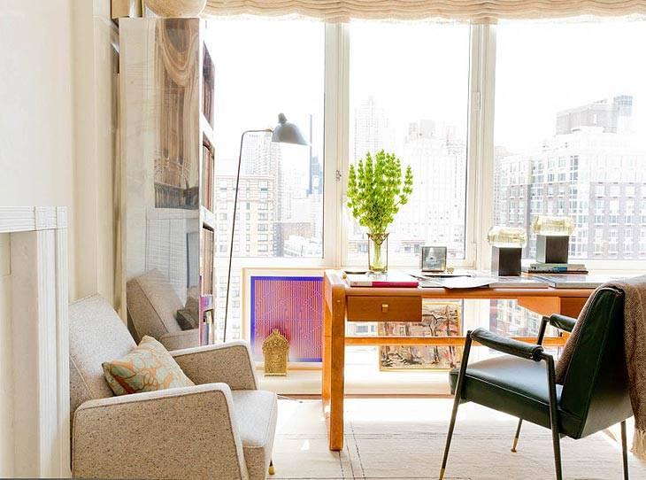 доамшний кабинет с панорамными окнами во всю стену
