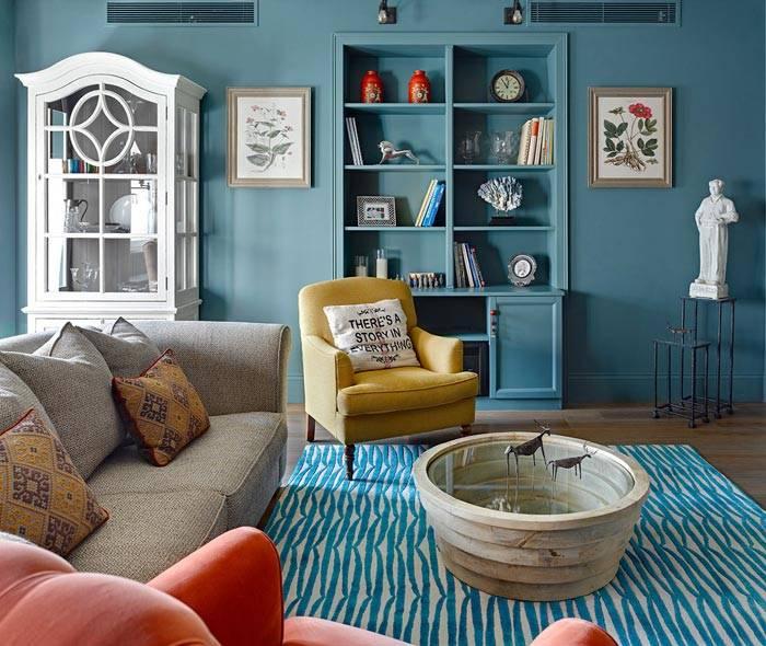 яркие цвета в дизайне интерьера