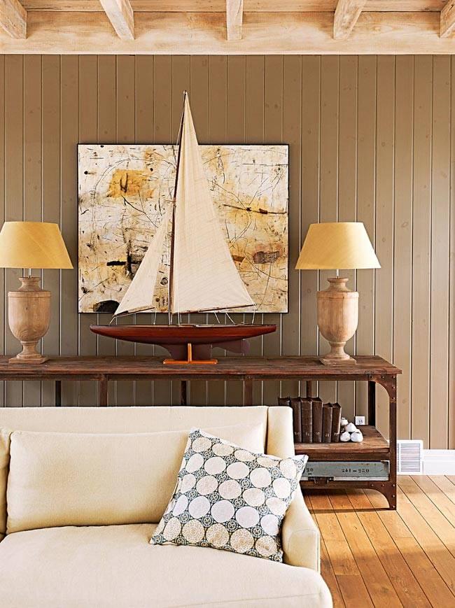 Деревянная отделка стен и потолка в доме фото