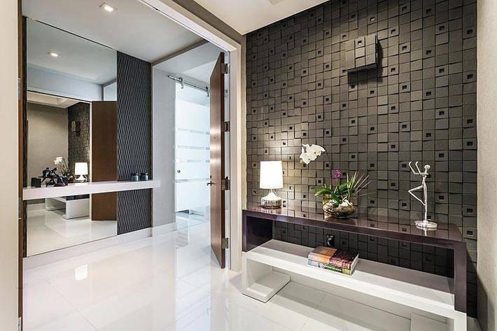 Большая просторная квартира с современным дизайном интерьера