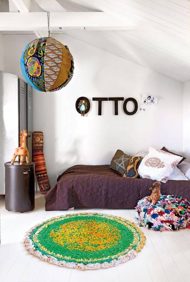 Мансардная комната в винтажном стиле