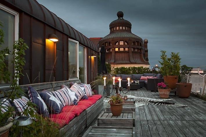 Уютные вечера при свечах на террасе фото