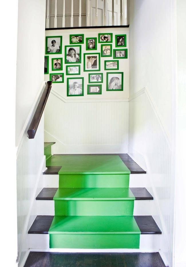 Яркие зеленые элементы в дизайне интерьера от Melanie Turner