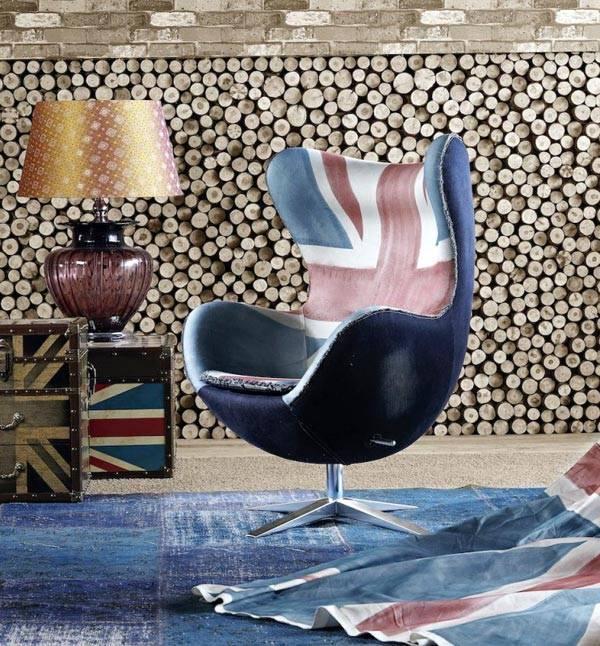 красивое кресло для дома с изображением английского флага