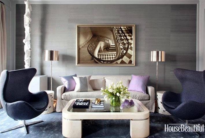 Современный интерьер с легендарным Egg Chair от Arne Jacobsen