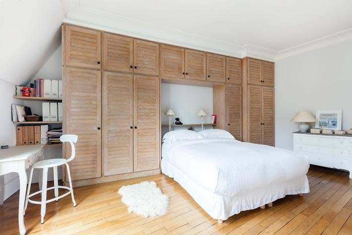 Шкафы для хранения в интерьере спальни фото