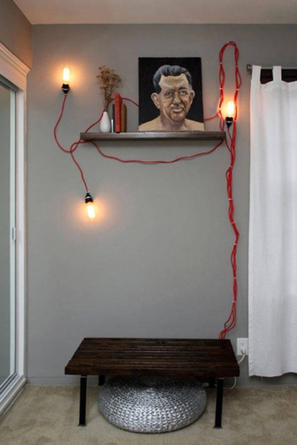 красный кабель для лампы