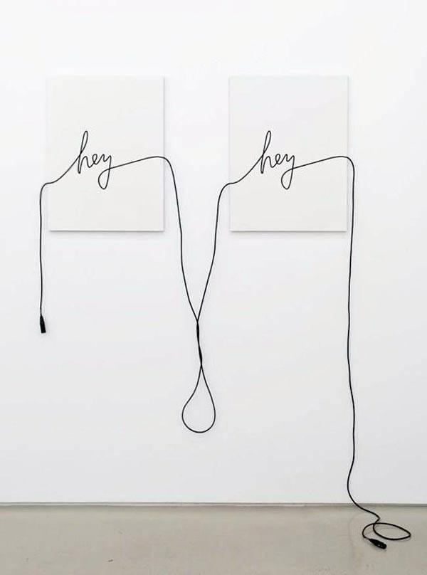 Как декорировать стены с помощью проводов кабеля