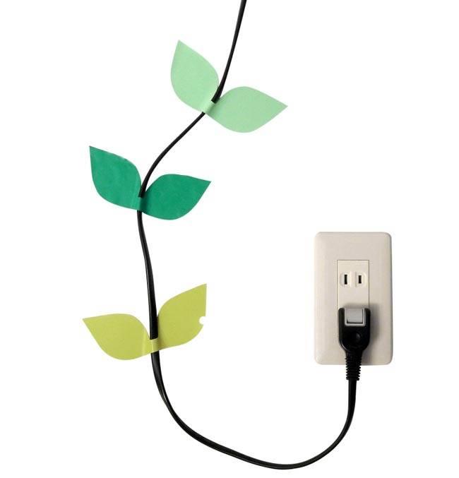 Наклейки для проводов в виде листьев