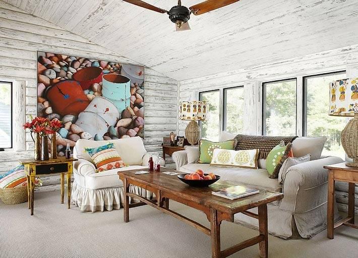 гостевая комната на мансардном этаже в бревенчатом доме