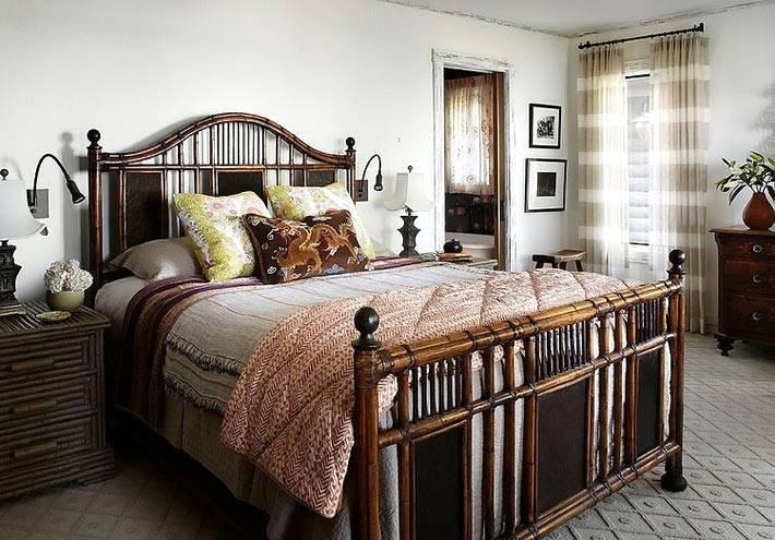 сдержанный и строгий стиль оформления спальни для взрослых