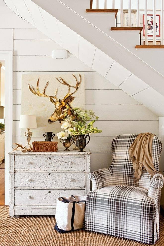Винтажная мебель в отреставрированном доме в США