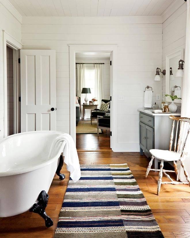 Винтажный дизайн интерьера ванной комнаты фото