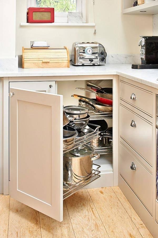 угловые ящики для кухни