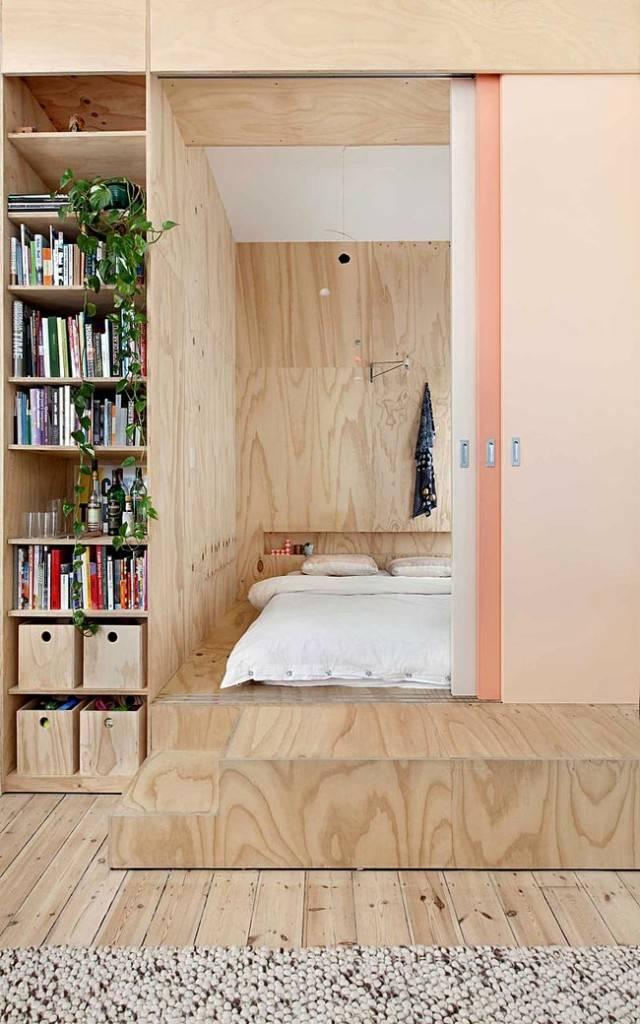 Деревянный интерьер квартиры в Австрии фото
