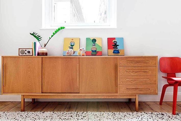 Квартира-студия с мебелью в стиле ретро фото