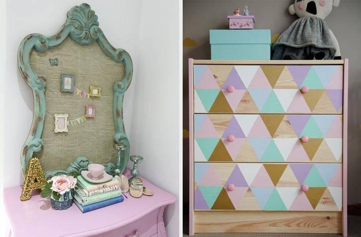 как покрасить деревянный комод для детской