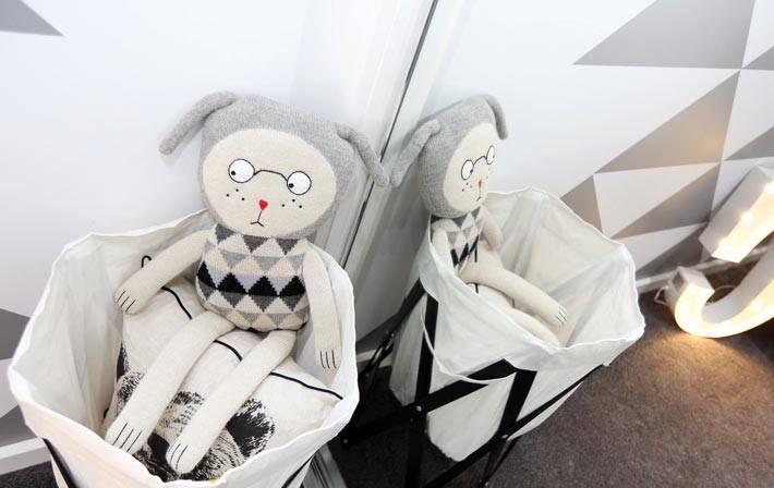 серо-белая гамма для оформления комнаты для ребенка