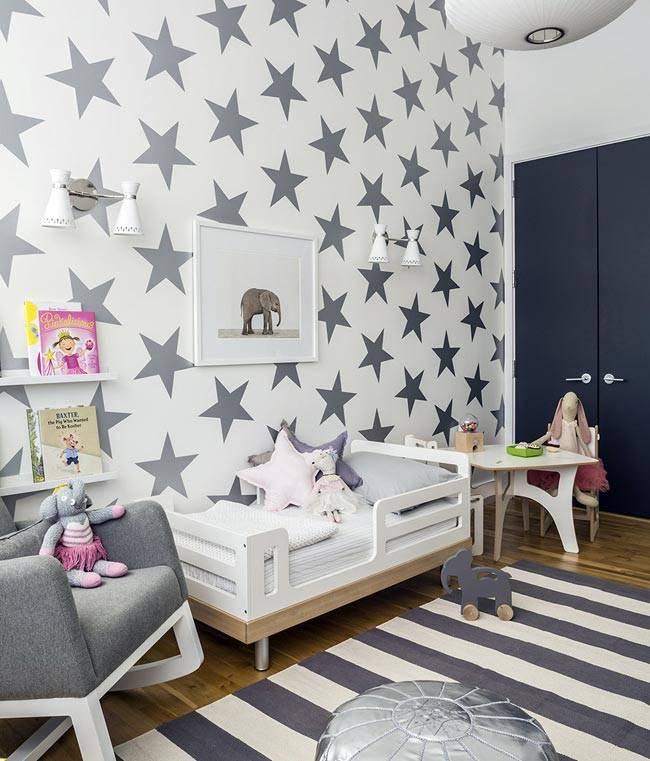 Серый цвет в оформлении детской комнаты фото