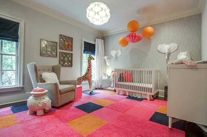 детская комната серого цвета