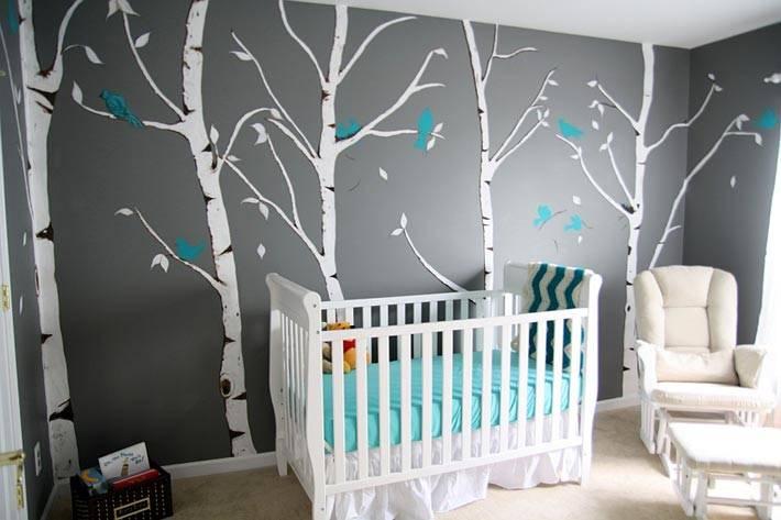 декор стен в детской комнате фото