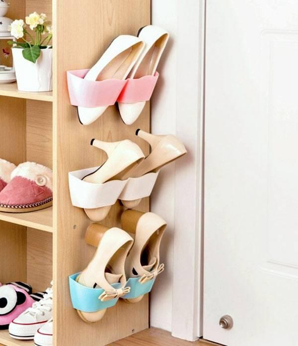 Оригинальное хранение туфель в подвешенном состоянии