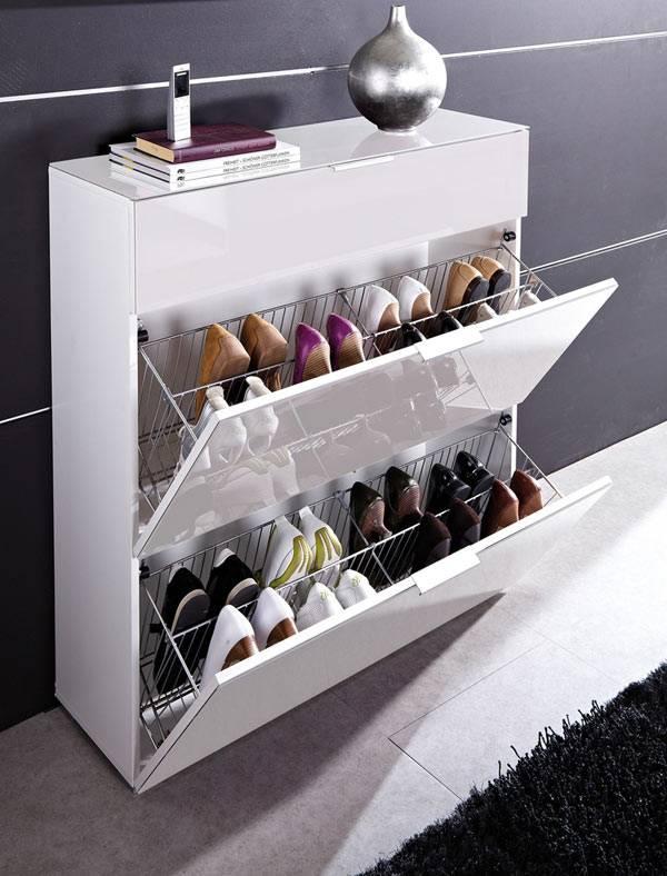Обувница - шкаф для хранения обуви в маленькой прихожей