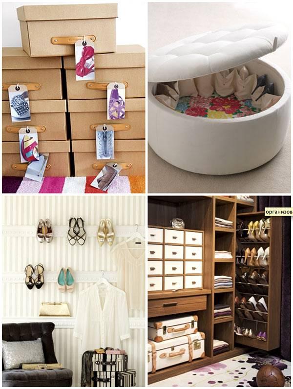 Разные идеи для хранения обуви в интерьере фото