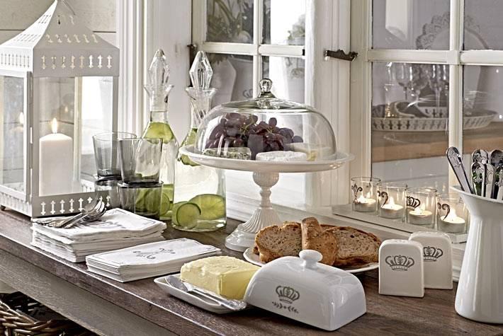 фруктовница на ножке - сервировка стола от икеа фото