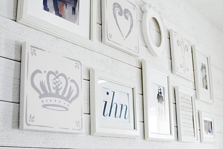 белые рамки для картин и фотографий от ИКЕА