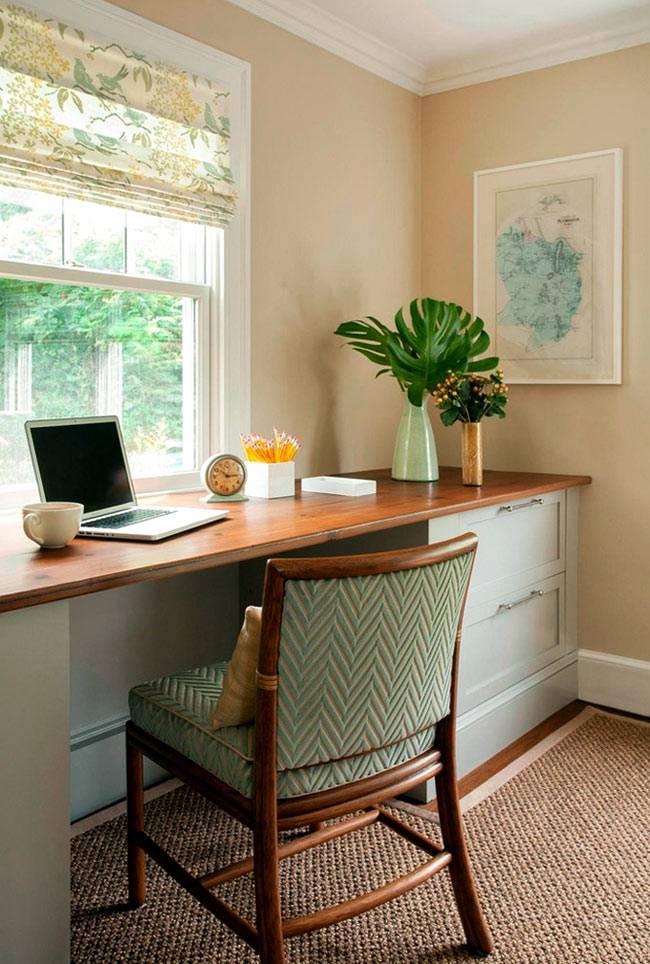 стол-подоконник в интерьере фото