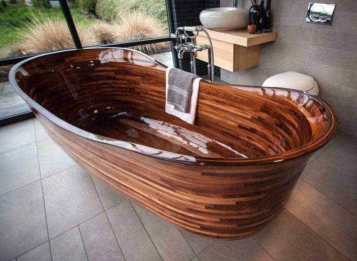изящная деревянная ванна своими руками