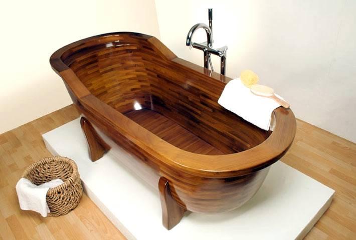 Эксклюзивные деревянные ванны (натуральное дерево)