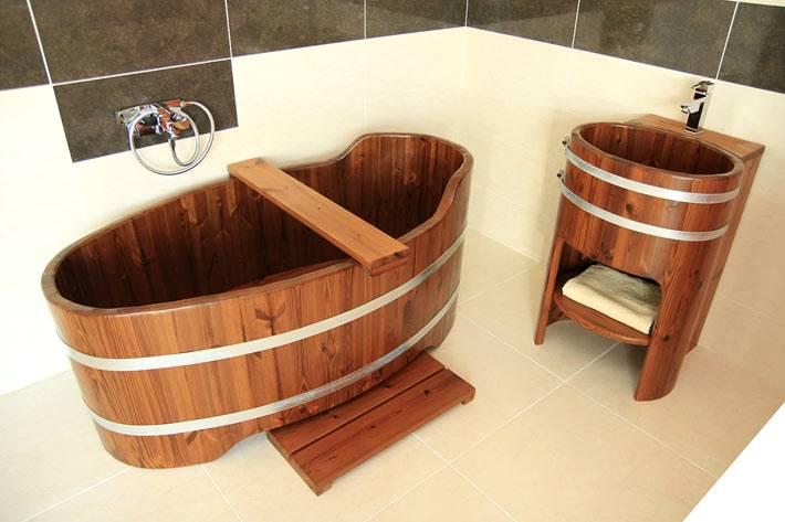 Эксклюзивные деревянные ванны фото