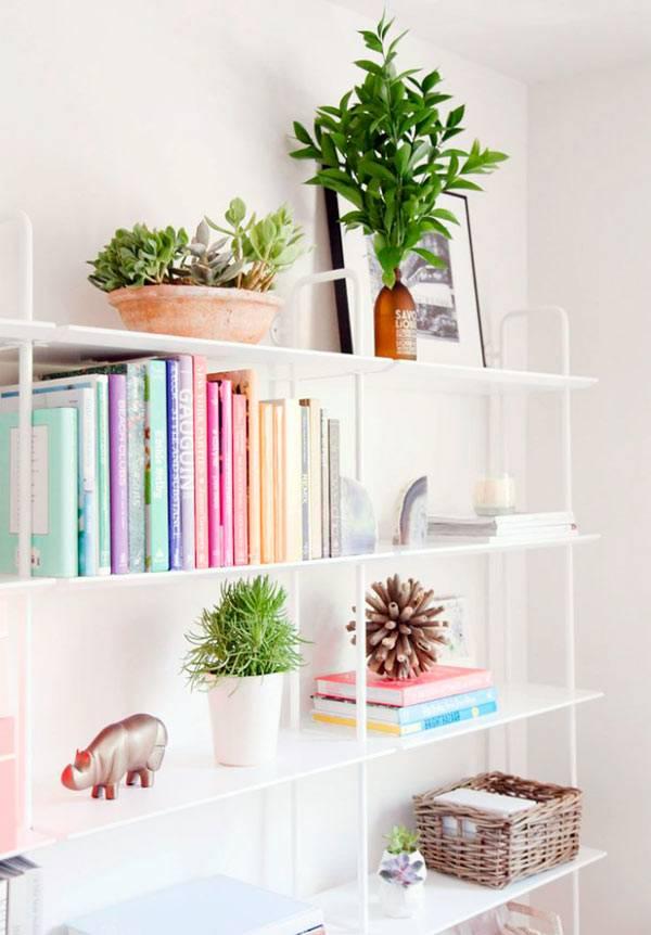 красивый дизайн стильных книжных полок фото