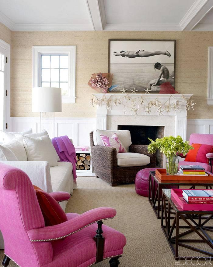 Красочный дизайн интерьера дома в Хэмптоне