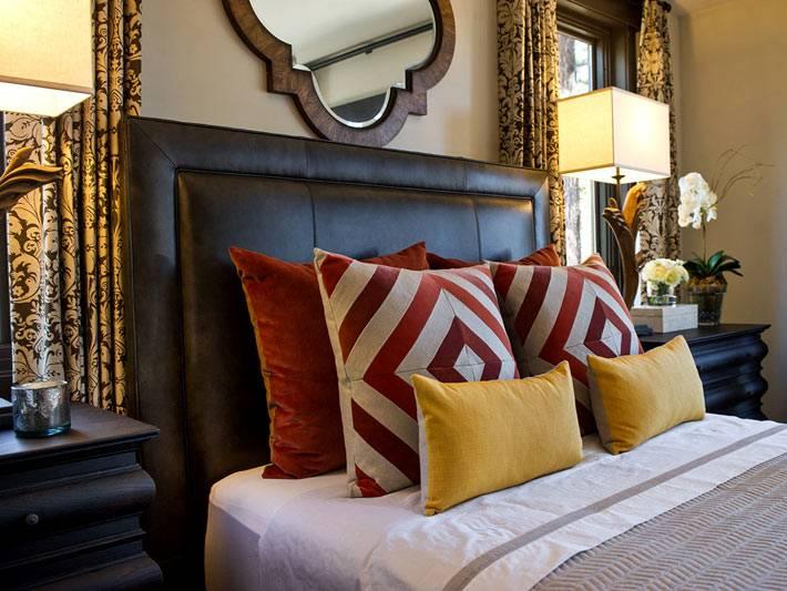 Уютный дизайн интерьера спальной комнаты