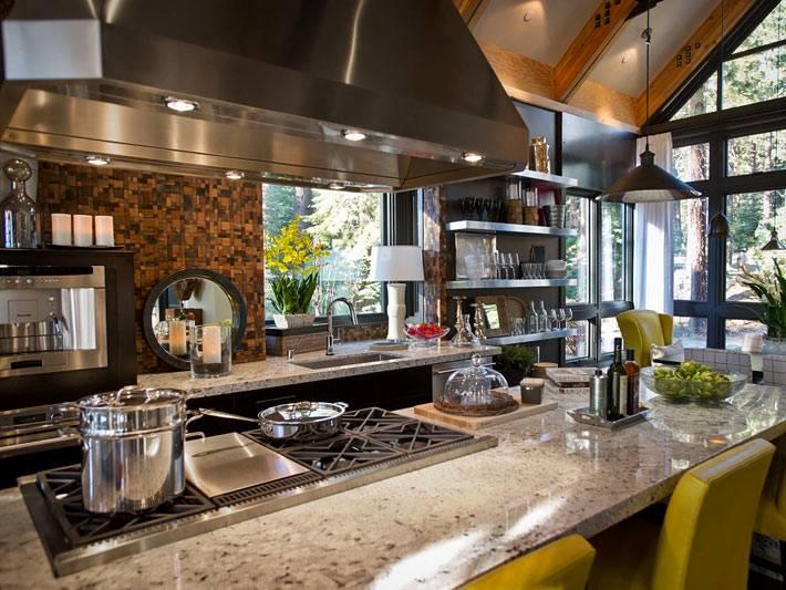 хорошо организованная кухня с современным оборудованием