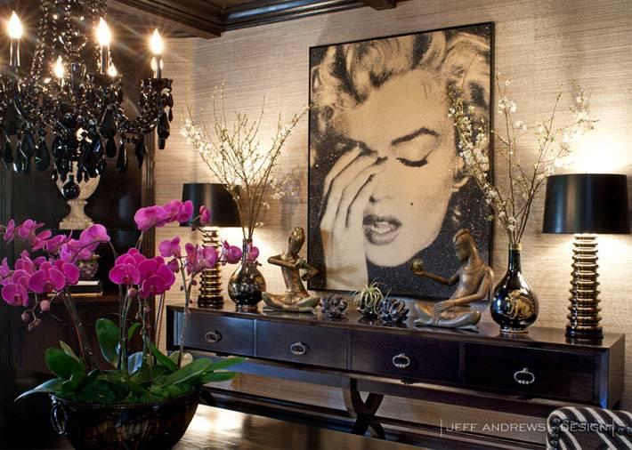 фото Мерилин Монро как украшение комнаты